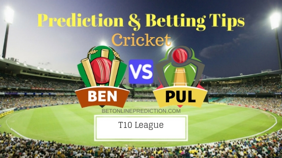 Bengal Tigers vs Punjabi Legends 10th T10 Team, Team News, Winner Prediction 24th November 2018