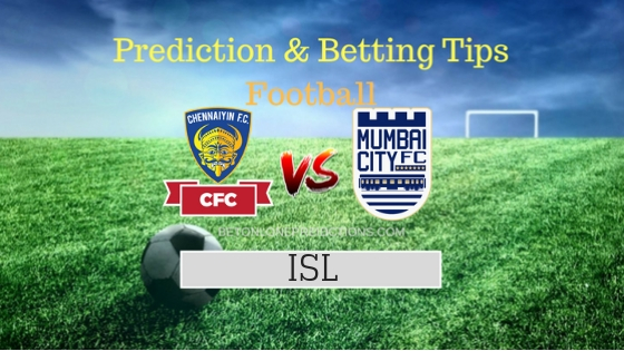 Chennaiyin FC vs Mumbai City FC Team, Team News, Winner Prediction 3rd November 2018