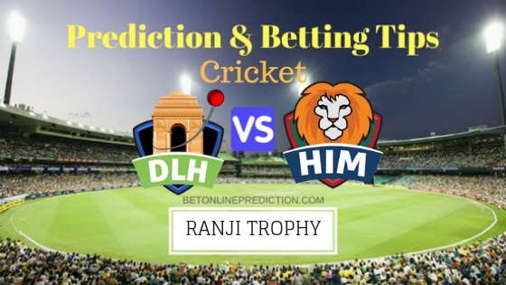 Delhi vs Himachal Pradesh Round 2,Elite Group B TEST Team, Team News, Winner Prediction 12th November 2018