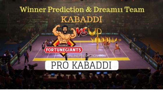 Gujarat Fortunegiant vs U.P. Yoddha 71th Team, Team News, Winner Prediction 18th November 2018
