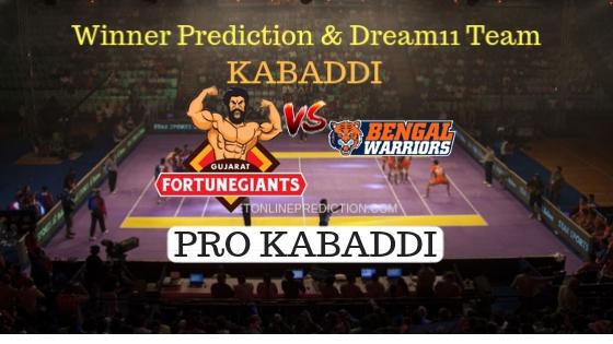 Gujarat Fortunegiants vs Bengal Warriors 66th Team, Team News, Winner Prediction 16th November 2018