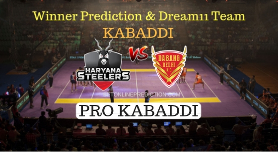 Haryana Steelers vs Dabang Delhi K.C. 52th Team, Team News, Winner Prediction 8th November 2018