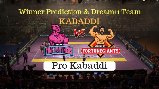 Jaipur Pink Panthers vs Gujarat FortuneGiants 45th Team, Team News, Winner Prediction 2nd November 2018