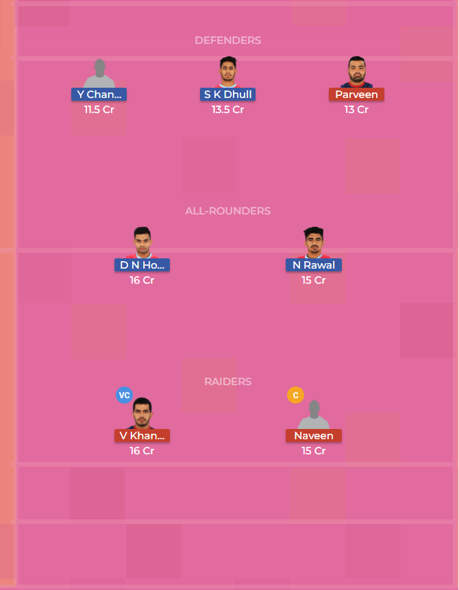 Jaipur Pink Panthers vs Haryana Steelers 50th Dream11 Team, Team News, Winner Prediction 6th November 2018