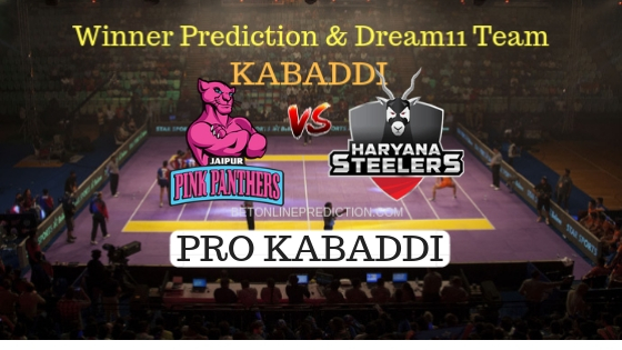 Jaipur Pink Panthers vs Haryana Steelers 50th Team, Team News, Winner Prediction 6th November 2018