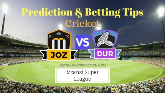 Jozi Stars vs Durban Heat 16th T20 Team, Team News, Winner Prediction 30th November 2018