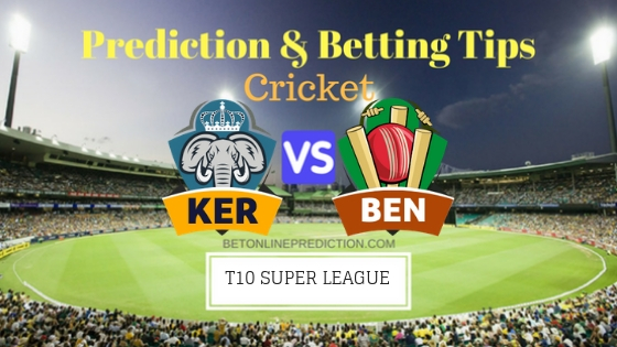 Kerala Knights vs Bengal Tigers 22nd T10 Team, Team News, Winner Prediction 30th November 2018
