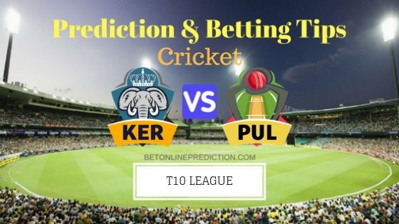 Kerala Knights vs Punjabi Legends 14th T10 Team, Team News, Winner Prediction 26th November 2018