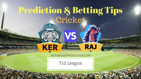Kerala Knights vs Rajputs 11th T10 Team, Team News, Winner Prediction 25th November 2018