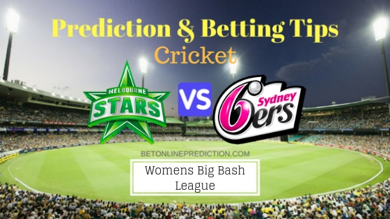 Melbourne Stars Women vs Sydney Sixers Women 2nd T20 Team, Team News, Winner Prediction 1st December 2018
