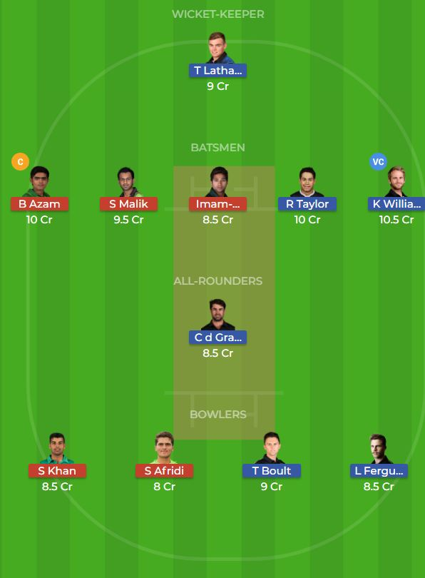 New Zealand vs Pakistan 2nd ODI Dream11 Team, Team News, Winner Prediction 09th November 2018