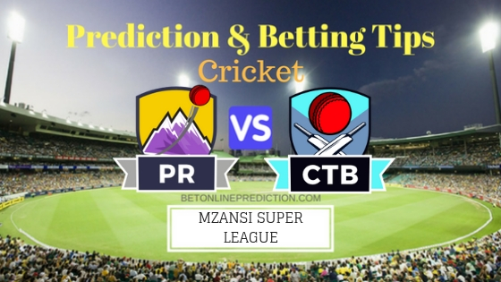 Paarl Rocks vs Cape Town Blitz 11th T20 Team, Team News, Winner Prediction 25th November 2018