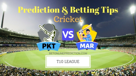 Pakhtoons vs Maratha Arabians 18th T10 Team, Team News, Winner Prediction 28th November 2018