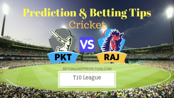 Pakhtoons vs Rajputs 6th T10 Team, Team News, Winner Prediction 23th November 2018
