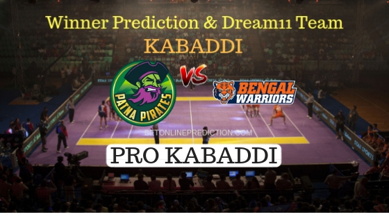 Patna Pirates vs Bengal Warriors 56th Team, Team News, Winner Prediction 10th November 2018