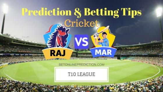 Rajputs vs Maratha Arabians 15th T10 Team, Team News, Winner Prediction 27th November 2018