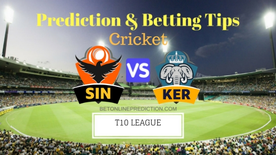 Sindhis vs Kerala Knights 4th T10 Team, Team News, Winner Prediction 22th November 2018