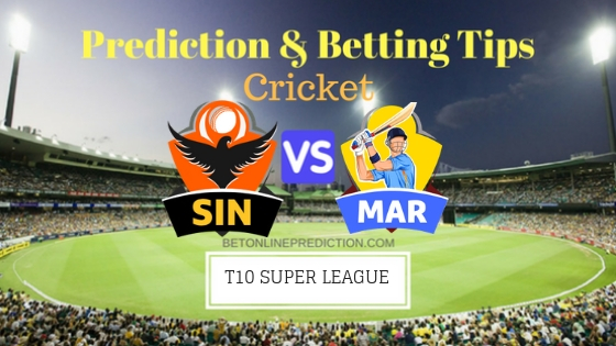 Sindhis vs Maratha Arabians 24th T10 Team, Team News, Winner Prediction 30th November 2018