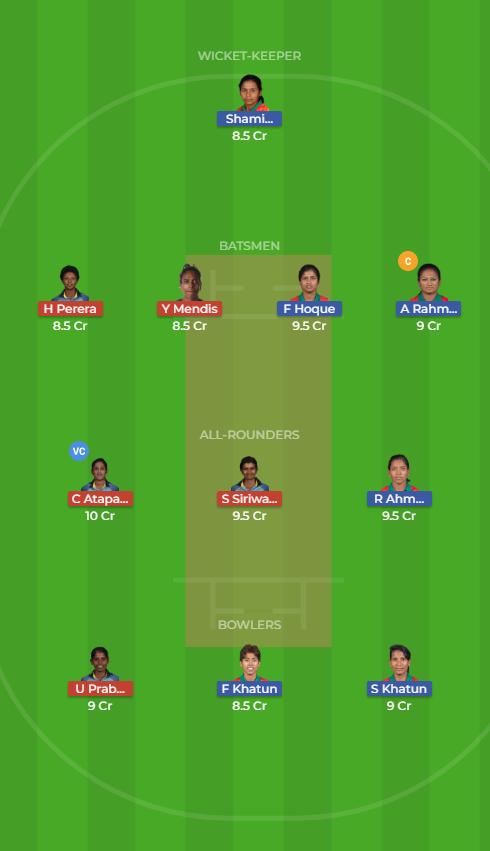 Sri Lanka Women vs Bangladesh Women 11th T20 Dream11 Team, Team News, Winner Prediction 15th November 2018