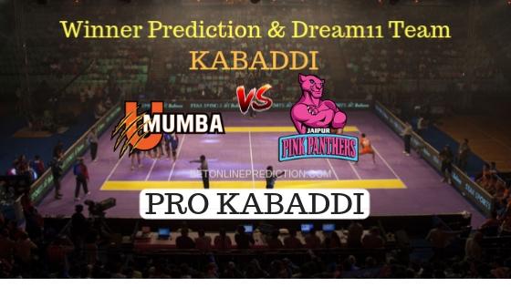 U Mumba vs Jaipur Pink Panthers 54th Team, Team News, Winner Prediction 9th November 2018