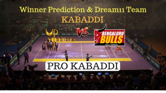 U.P Yoddha vs Bengaluru Bulls 47th Team, Team News, Winner Prediction 3rd November 2018