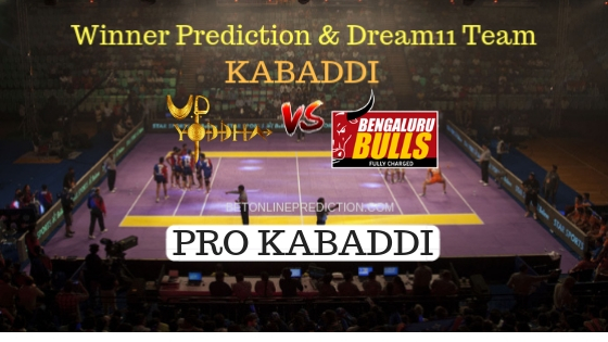 U.P. Yoddha vs Bengaluru Bulls 53th Team, Team News, Winner Prediction 8th November 2018