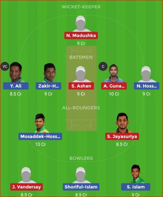 Bangladesh U23 vs Sri Lanka U23 1st Semi-Final ODI Dream11 Team, Team News, Winner Prediction 13th December 2018