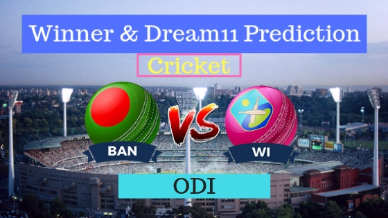 Bangladesh vs Windies 1st ODI Team, Team News, Winner Prediction 09th December 2018