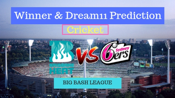 Brisbane Heat vs Sydney Sixers 15th T20 Team, Team News, Winner Prediction 1st January 2018