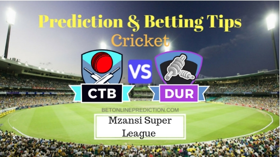 Cape Town Blitz vs Durban Heat 27th T20 Team, Team News, Winner Prediction 09th December 2018