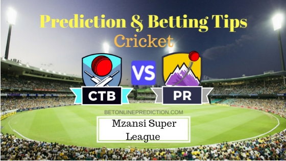 Cape Town Blitz vs Paarl Rocks 24th T20 Team, Team News, Winner Prediction 07th December 2018