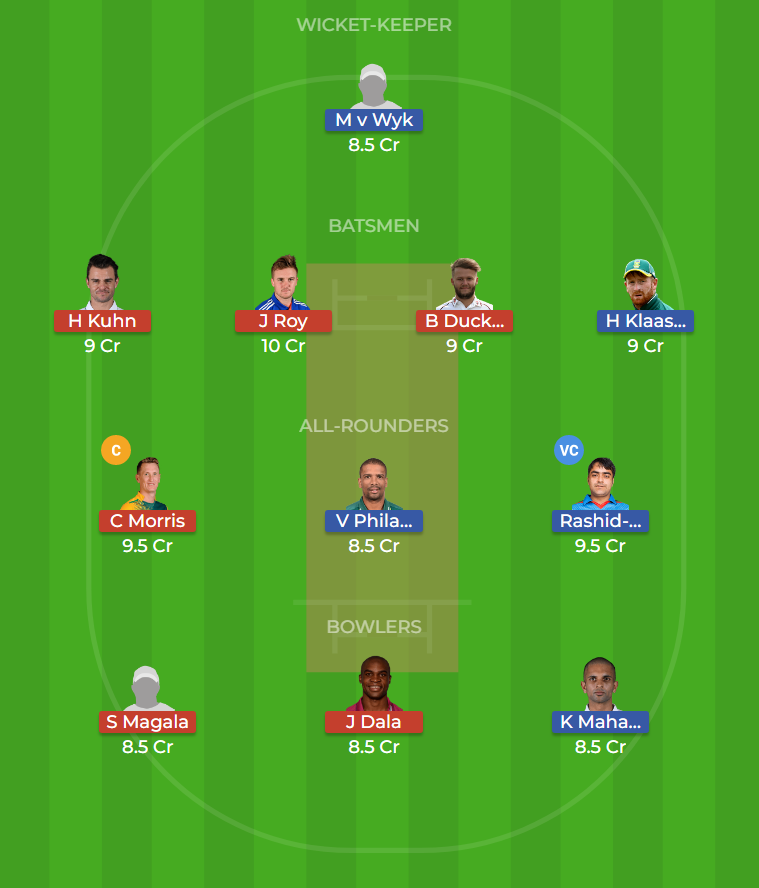 Durban Heat vs Nelson Mandela Bay Giants 22nd T20 Dream11 Team, Team News, Winner Prediction 05th December 2018