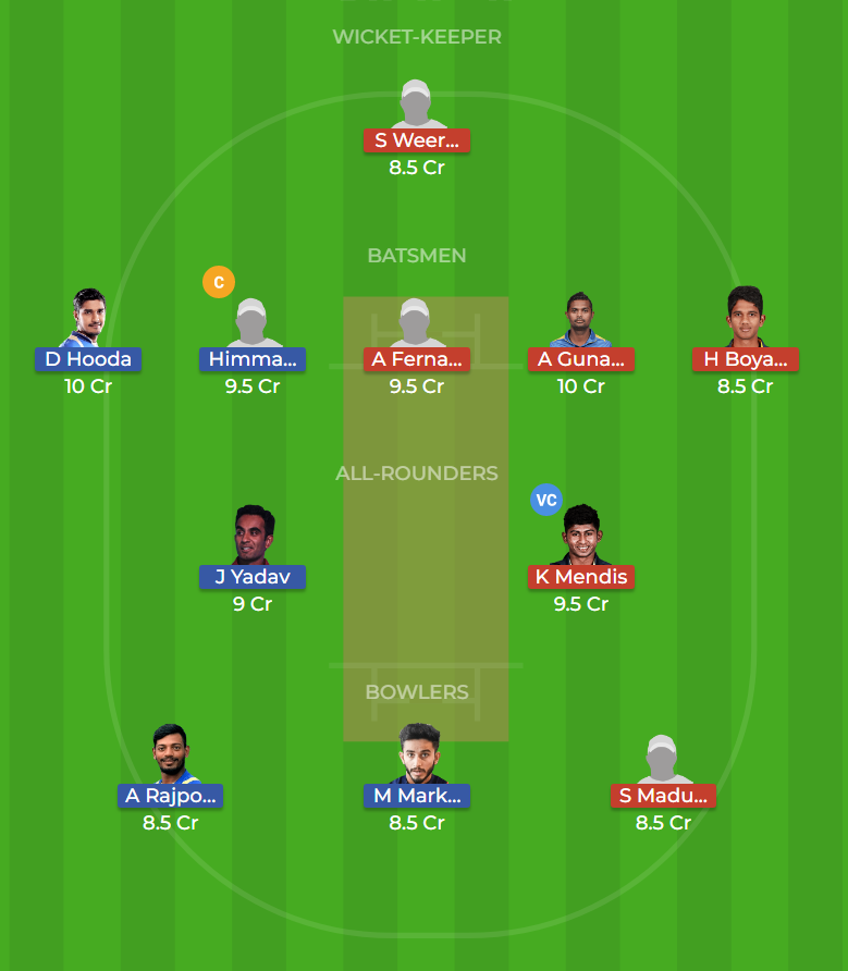 India U23 vs Sri Lanka U23 Final ODI Dream11 Team, Team News, Winner Prediction 15th December 2018
