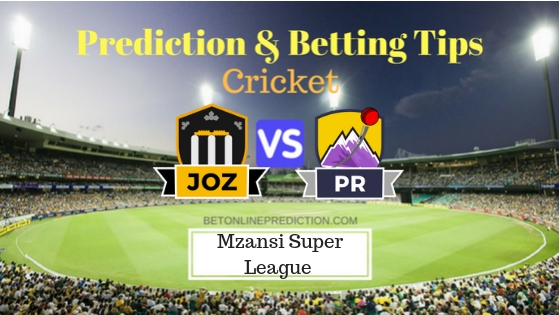 Jozi Stars vs Paarl Rocks 26th T20 Team, Team News, Winner Prediction 09th December 2018