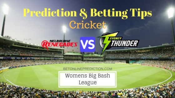 Melbourne Renegades Women vs Sydney Thunder Women 4th T20 Team, Team News, Winner Prediction 2nd December 2018