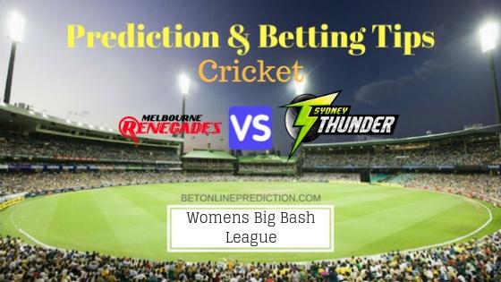 Melbourne Renegades Women vs Sydney Thunder Women 4th T20 Team, Team News, Winner Prediction 2nd December 2018