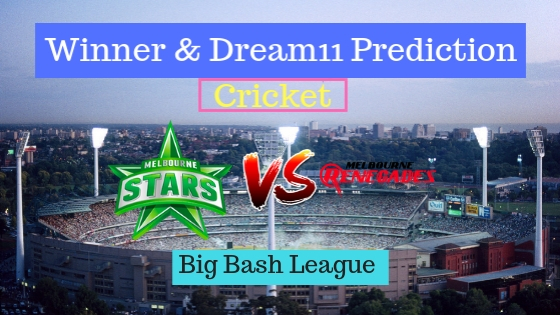 Melbourne Stars vs Melbourne Renegades 16th T20 Team, Team News, Winner Prediction 1st January 2018
