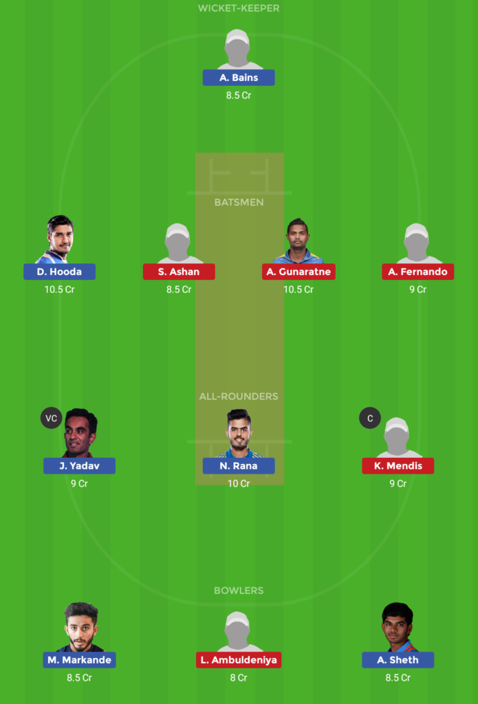 Sri Lanka U23 vs India U23 11th ODI Dream11 Team, Team News, Winner Prediction 10th December 2018