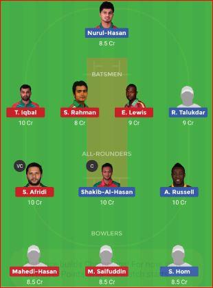 Dhaka Dynamites vs Comilla Victorians 39th T20 Bangladesh Premier League 2019