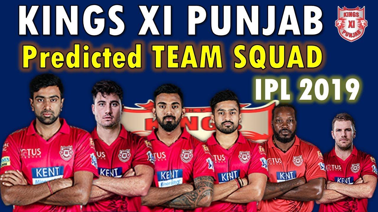 Kings XI Punjab 2019 Team Squads List