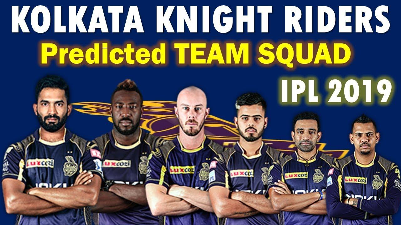 Kolkata Knight Riders IPL 2019 Team Squad List