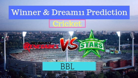 Melbourne Renegades vs Melbourne Stars 35th T20 Team, Team News, Winner Prediction 19th January 2019