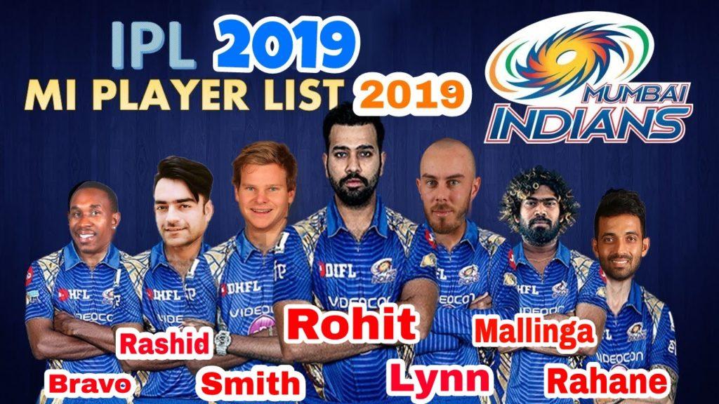 Mumbai Indians IPL 2019 Team Squad List