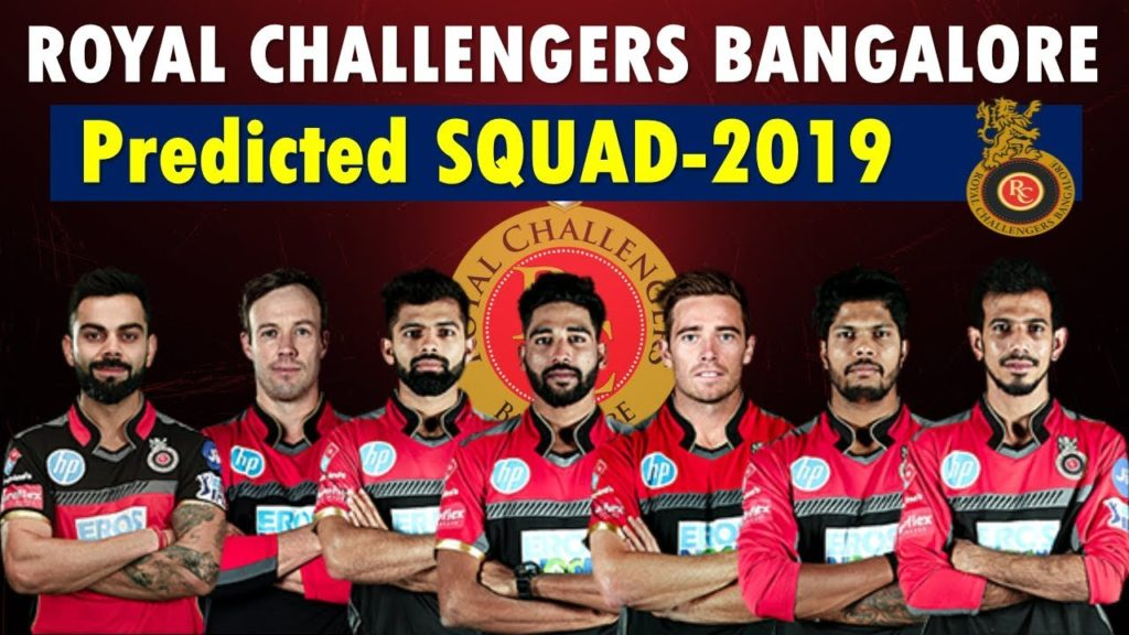Royal Challengers Bangalore 2019 Team Squad List