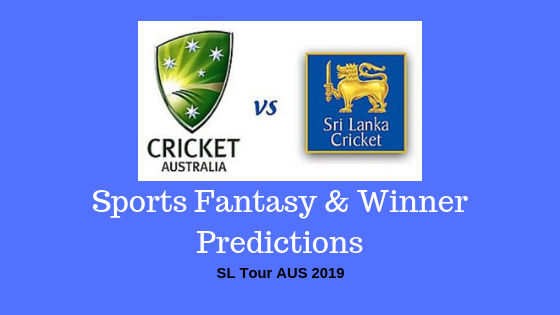 Australia vs Sri Lanka 1st TEST SL Tour AUS 2019