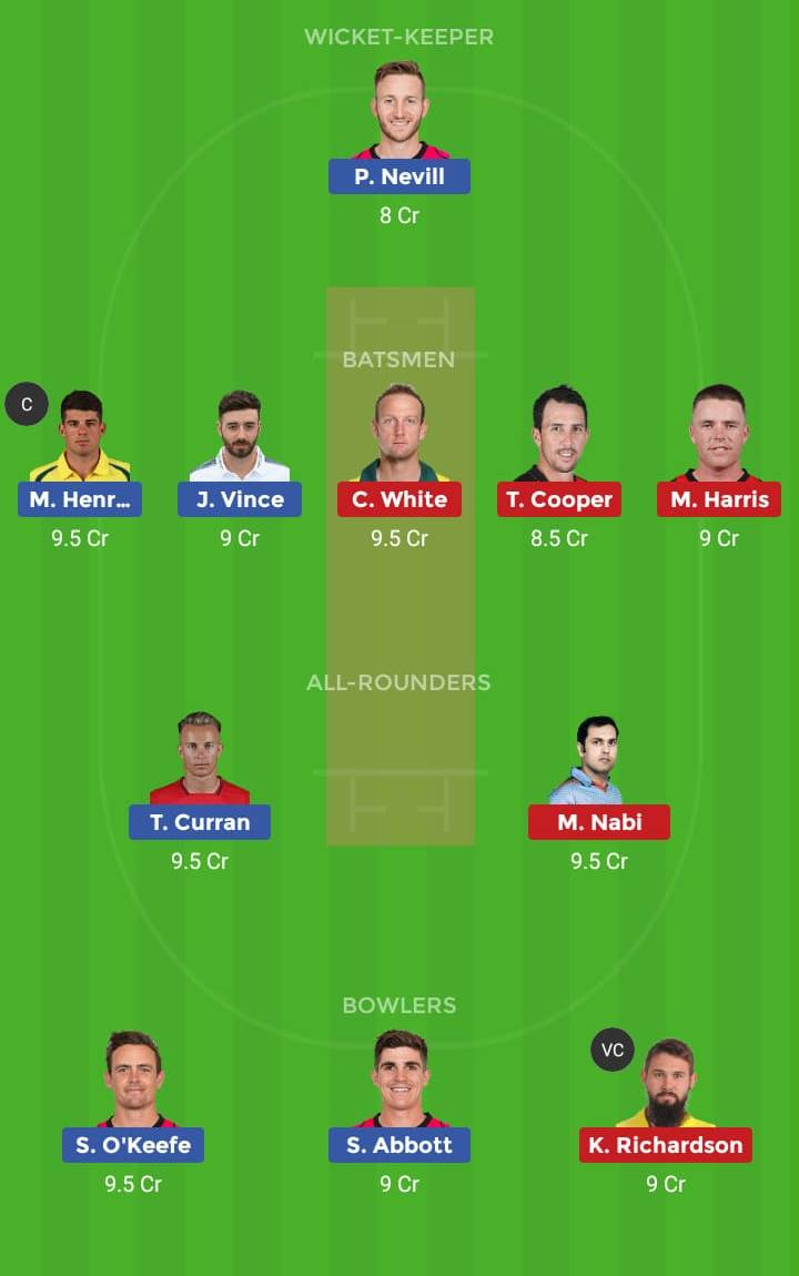 Sydney Sixers vs Melbourne Renegades 32nd T20 Dream11 Team, Team News, Winner Prediction 16th January 2019