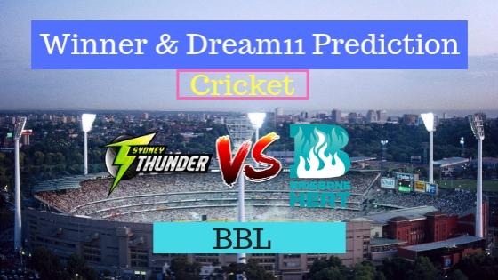 Sydney Thunder vs Brisbane Heat 24th T20 Team, Team News, Winner Prediction 08th January 2019