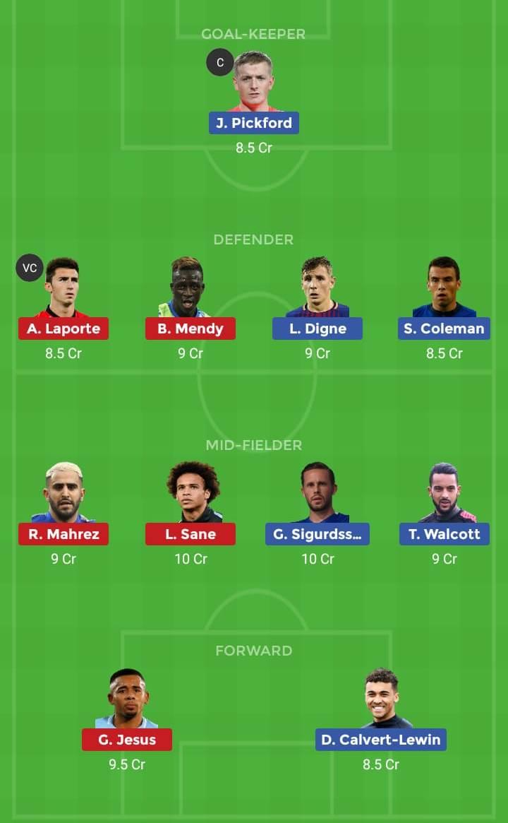 Everton vs Manchester City Soccer Match Premier League 2019
