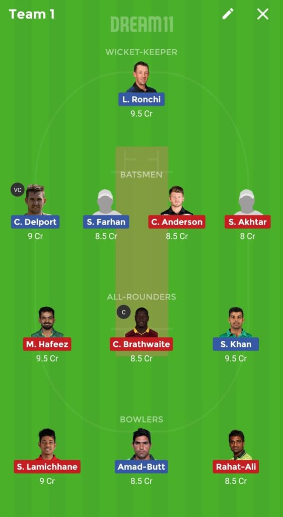 Islamabad United vs Lahore Qalandars Dream11 team