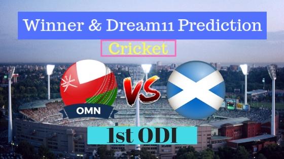 Oman vs Scotland 1st ODI ODI